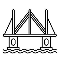 modern city bridge icon outline style vector image