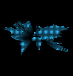 modern dotted world map blue futuristic vector image