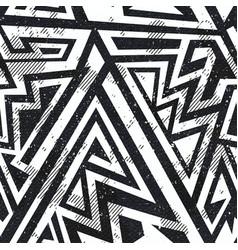 monochrome grunge seamless pattern vector image