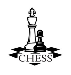 monochrome pattern on chess theme with chess vector image