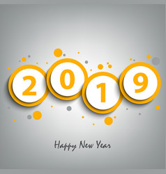 new year card with round pointers in yellow design vector image