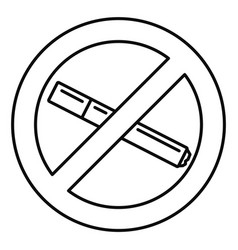 no smoking cigarette icon outline style vector image
