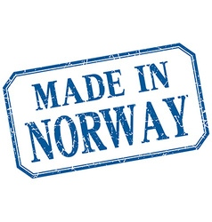 Norway - made in blue vintage isolated label vector