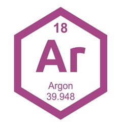 Periodic table argon resize vector image