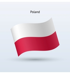 Poland flag waving form vector image