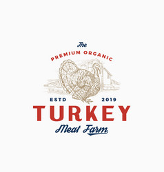 premium quality turkey farm and company abstract vector image