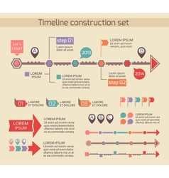 Presentation timeline chart elements vector image