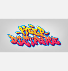 Protest font in old school graffiti style vector