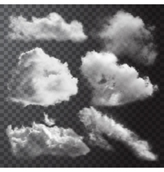 Realistic Clouds Icon Set vector