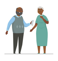 Senior couple - colorful flat design style vector