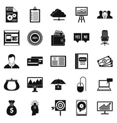 Server icons set simple style vector
