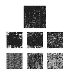 set black grunge texture square vector image