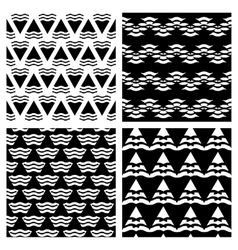 Set of abstract geometric seamless vector image