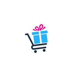 shop gift logo icon design vector image