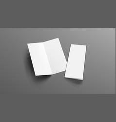 slim vertical half folded brochure on gray vector image