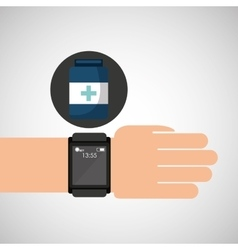 smartwatch device health container vector image