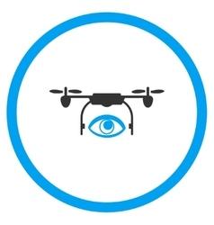 Spy Air Drone Icon vector image