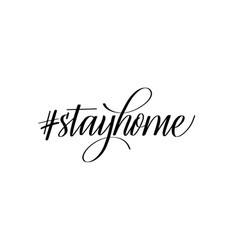 Stay home isolation social media campaign slogan vector