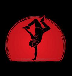 Street dance b boys dance dancing action vector