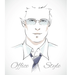 Stylish businessman portrait vector image