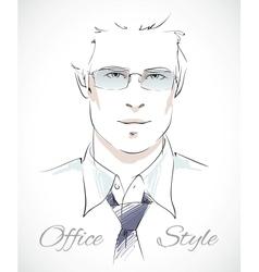 Stylish businessman portrait vector