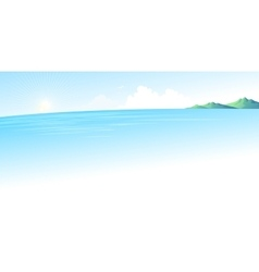Summer blue sea landscape vector image