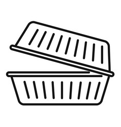Takeout food container icon outline style vector