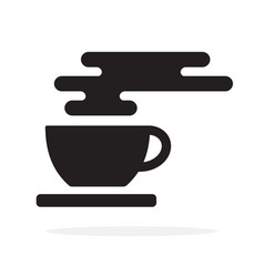 tea cup or coffee with saucer vector image