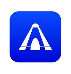 Tepee icon digital blue vector