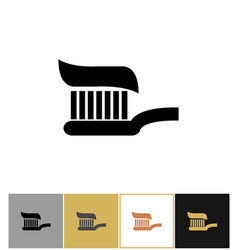 Toothbrush icon toothpaste dental cleaning symbol vector