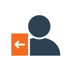 User profile with entrance sign line icon account vector
