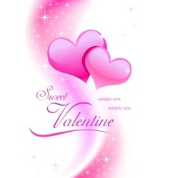 Valentine background wiht hearts vector image vector image