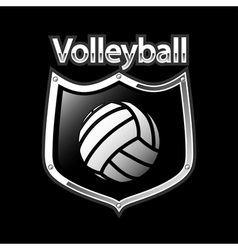 Volleyball emblem - sport vector image