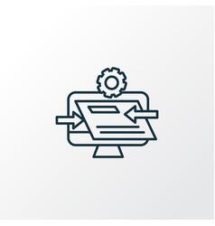 Website optimization icon line symbol premium vector
