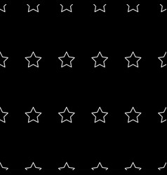 white star line seamless on black background vector image