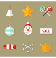 9 Christmas Icons Set 1 vector image vector image
