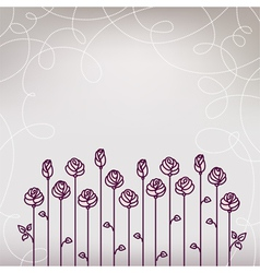 Flower Roses Wedding Background vector image