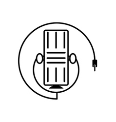 microphone music vintage equipment outline vector image