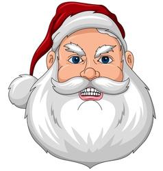 Santa Angry Face Front vector image