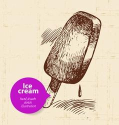Vintage sweet ice cream background vector image