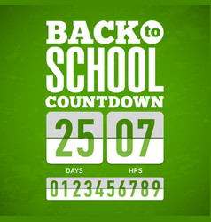 back to school countdown vector image vector image