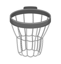 basketball hoopbasketball single icon in vector image