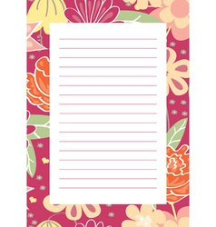 page for notes vector image