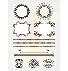 set of abstract decor pattern vector image vector image