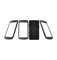 Set of cellphones vector image