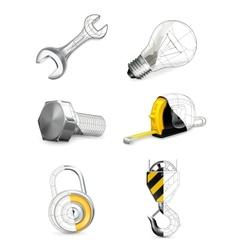 Tools set vector image