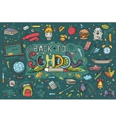 A large set of handdrawn doodles back to school vector image vector image