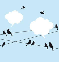 birds in the sky vector image vector image