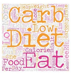 Lo Carb Diets Can Assist You Rapid Weight Loss vector image