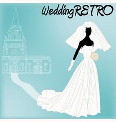 Retro Wedding vector image